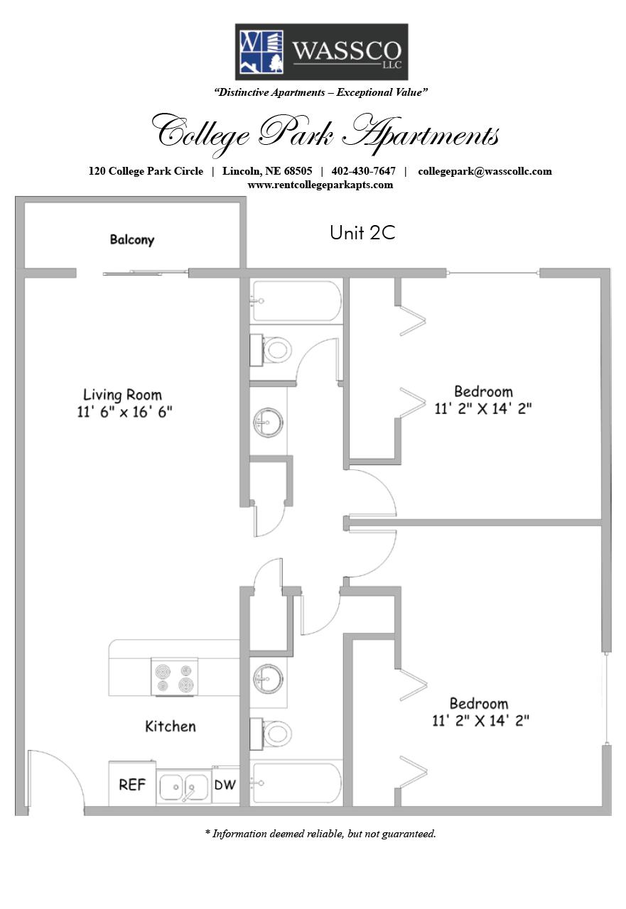 Floorplans Rent College Park Apartments