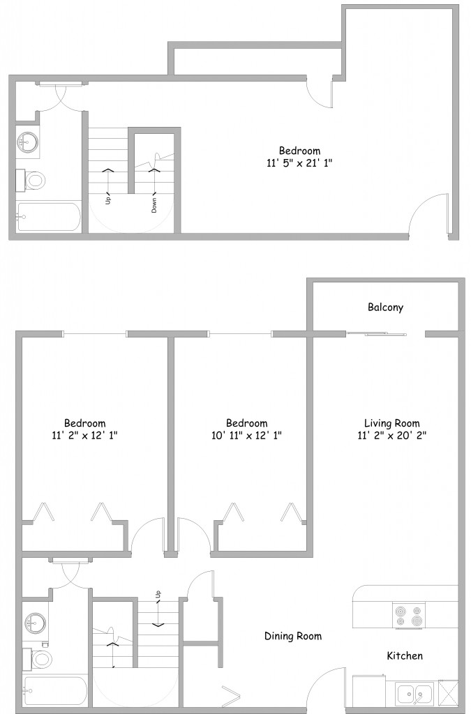 3 Bedroom Floor Plans Rent College Park Apartments